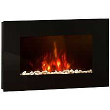 BeModern Azonto Electric Fireplace - Black Glass