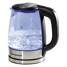 Daewoo 1.7L 2200W Glass Kettle with LED Illumination - Black & Stainless Steel