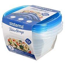 Sistema Take Alongs Square - 1.2L Deep - 3 Pack