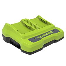 Greenworks Dual Slot 24v Rechargeable Battery Charger