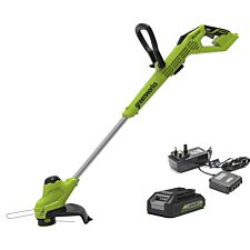 Greenworks 24v Line Trimmer with 2Ah Lithium-ion Battery and Charger