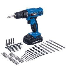 Pro-Craft 18V Li-ion Cordless Drill Driver with 50-Piece Accessory Kit