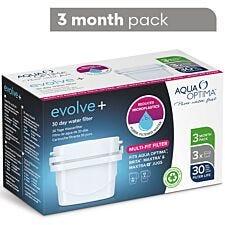 Aqua Optima Evolve+ 3 Pack - 3 x 30 Day Water Filter Cartridge