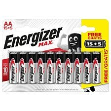 Energizer Max AA 15 + 5 Pack