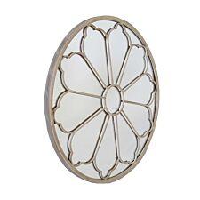 Charles Bentley Round Outdoor Flower Mirror - Cream