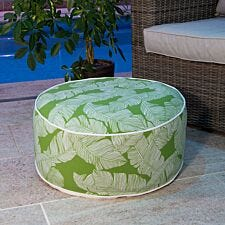 Charles Bentley Outdoor Inflatable Foot Stool - Green