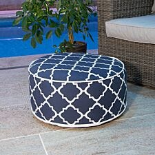 Charles Bentley Outdoor Inflatable Foot Stool - Navy Blue