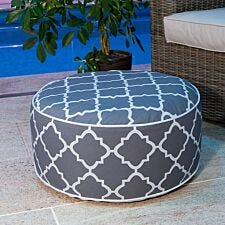 Charles Bentley Outdoor Inflatable Foot Stool - Grey