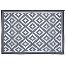 Charles Bentley Plastic Indoor/Outdoor Rug Medium - Grey