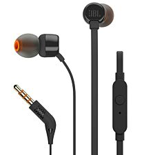 JBL T160 Tune Wired In-Ear Headphone with Mic - Black