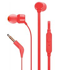 JBL T160 Tune Wired In-Ear Headphone with Mic - Red