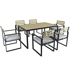 Charles Bentley Extrusion Aluminium Dining Set - Grey
