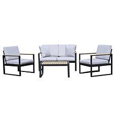 Charles Bentley Extrusion Aluminium Lounge Set - Grey