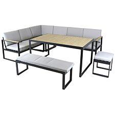 Charles Bentley Extrusion Aluminium Corner Sofa Set - Grey