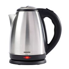 Daewoo SDA1516 1.8L 2200W Brush–Finish Jug Kettle – Silver
