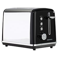 Daewoo SDA1583 Kensington 2–Slice Toaster with 6 Settings – Black