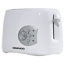 Daewoo Balmoral 2-Slice Plastic Toaster - White