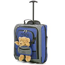 Aerolite Mini Max Childrens Trolley Bag with Toy Pouch - Blue