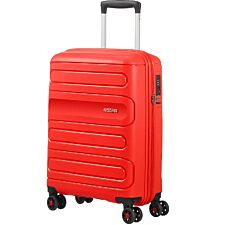 American Tourister Sunside Spinner Suitcase 55cm/35L - Sunset Red
