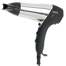 Wahl Chrome Ionic Hair Dryer 2000W with Soft-touch Grip - Black/Silver