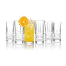RCR Brilliante Crystal Hi-ball Whisky Glass  Tumblers - Set of 6