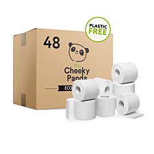 The Cheeky Panda Plastic Free 3 Ply Toilet Tissue - 48 Rolls