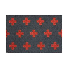 Premier Housewares Neon Crosses PVC Backed Coir Doormat
