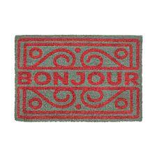 Premier Housewares Neon Bonjour Doormat - Grey
