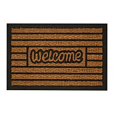 Premier Housewares Welcome Panama Doormat - Brown
