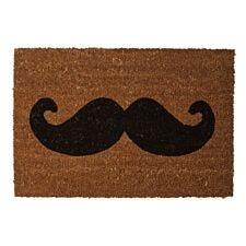 Premier Housewares Coir Doormat - Moustache