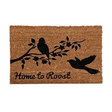 Premier Housewares Natrual Coir Doormat - Home To Roost