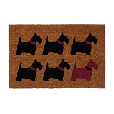 Premier Housewares Natrual Coir Doormat - Scottie Dog