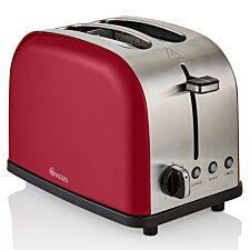Swan ST14092REDN Camden 2-Slice Toaster - Red