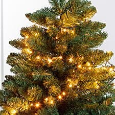Festive Mains Operated Warm White Firefly Lights - 100 LEDs