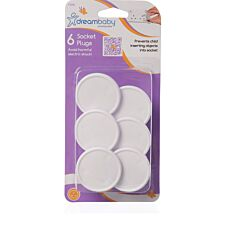 Dreambaby Socket Covers - Pack of 6 - White