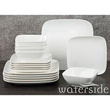 The Waterside 18 Piece Hampton Square Dinner Set - White