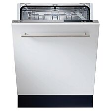 Sharp QW-DGS492X-EN Built-In 13-Place Setting Antibacterial Dishwasher with Super Active Drying - White