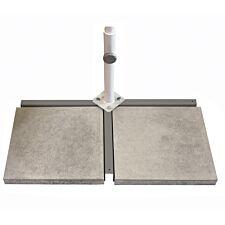 Glatz 30kg Flex Roof Cross Base with Support Tube & 2 Slabs