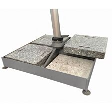Max Green 180kg Sombrano Static Base - 1 Frame, 4 Concrete & 4 Granite Slabs