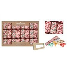Set of 8 Premium Christmas Crackers - Red Berry