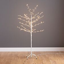 Mains Operated Birch Tree with 160 Warm White Copper Wire LEDs