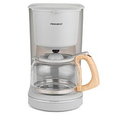 Progress EK3757PGRY Scandi Coffee Maker with Wood Effect Finish - Grey