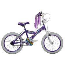 """Sonic Unicorn 16"""" Girls Junior Bike - Purple"""