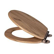 Croydex Corella Oak Effect Flexi-Fix Toilet Seat - Grey Oak Effect