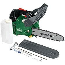 Draper 250mm Petrol Chainsaw with Oregon Chain and Bar (25.4cc)