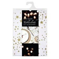 Wipe Clean Star Tablecloth - Gold