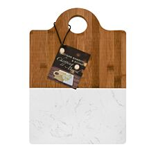 Large Bamboo & Marble Chopping Board