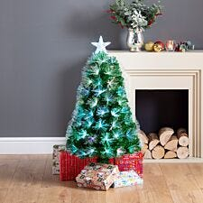 3ft Firework Fibre Optic Christmas Tree with Star