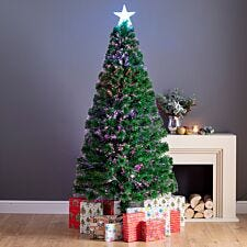 5ft Clarence Fibre Optic Christmas Tree with Star