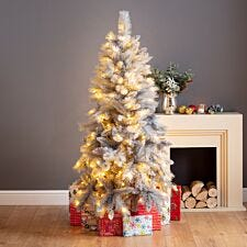 5ft Norfolk Prelit Grey Shimmer Christmas Tree